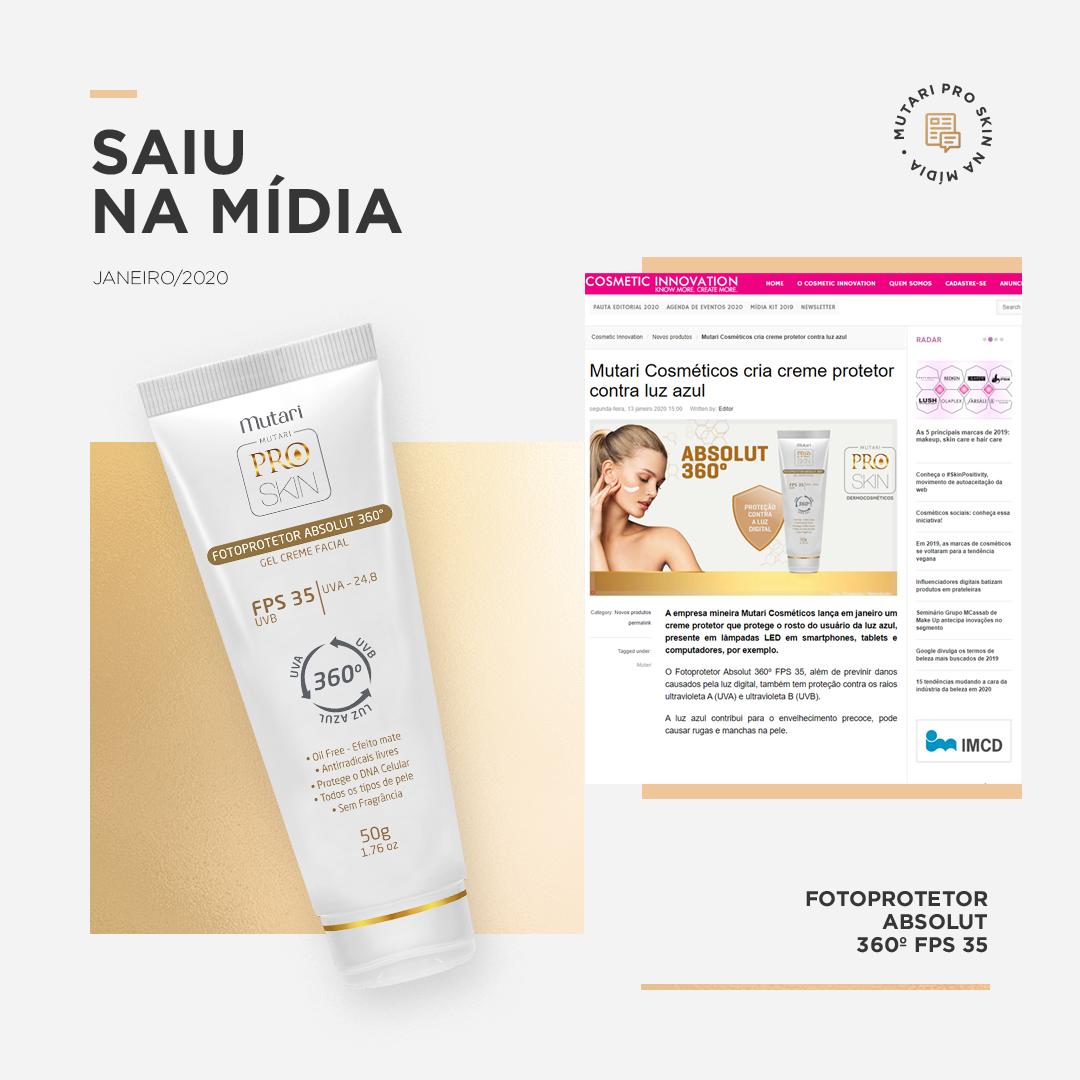 Os recentes lançamentos da Mutari Pro Skin estão presentes em grandes portais da estética e saúde
