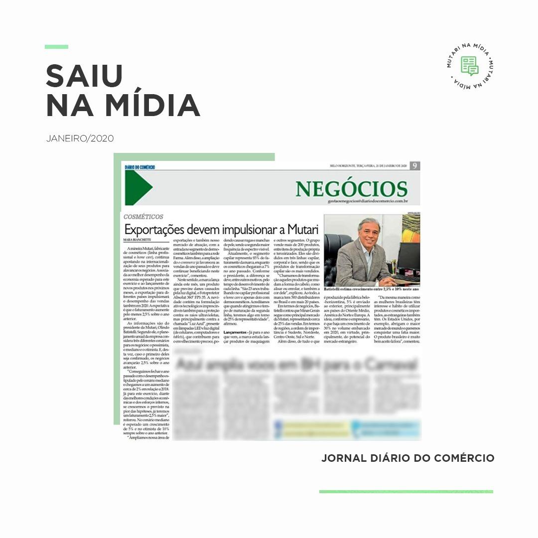 Mutari no Jornal Diário do Comércio
